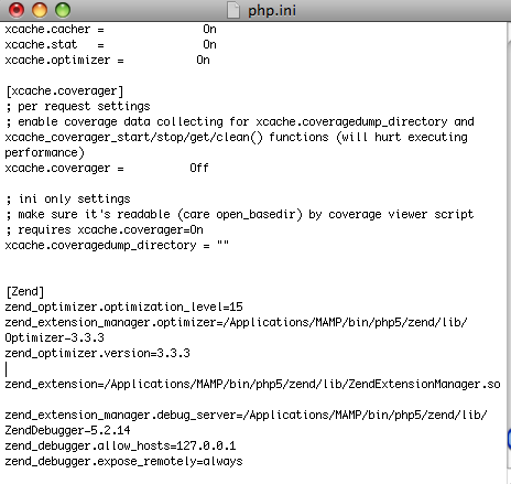 Setting up MAMP with Zend Debugger, Optimizer and Extension