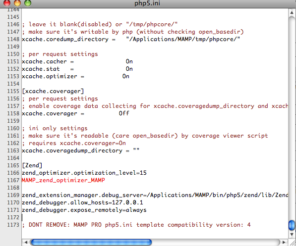 Setting up MAMP Pro with Zend Debugger, Optimizer and